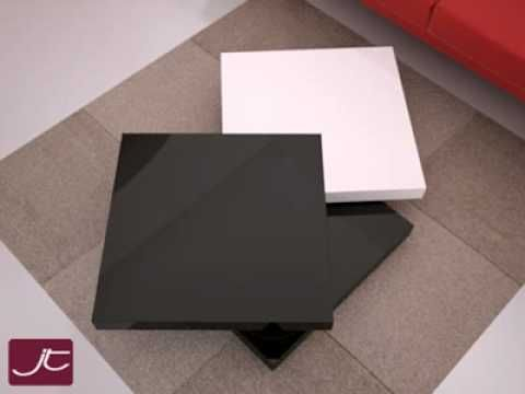 Design couchtisch ares von mit zwei drehbaren for Design tischplatten