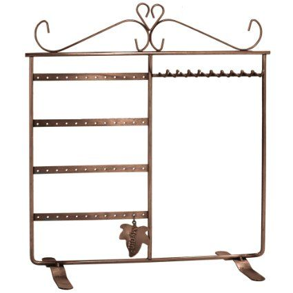 Amazon.com - Classic Black Jewelry Holder, Jewelry Stand for Earrings / Necklaces / Brecelets, Gift Idea - Jewelry Boxes