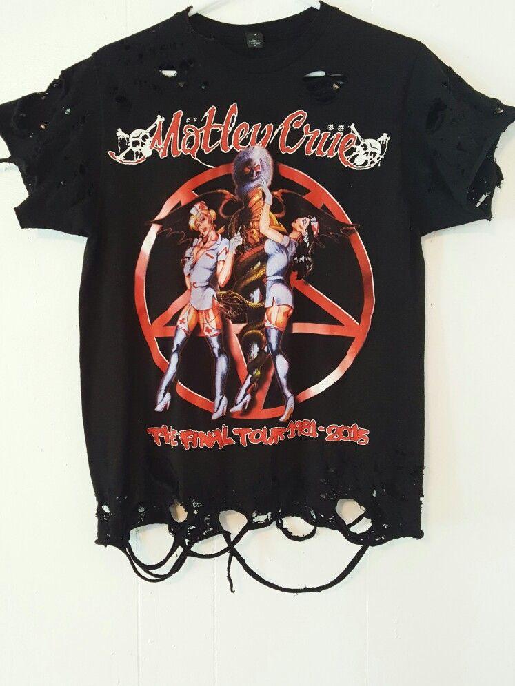 Distressed Motley Crue T-Shirt