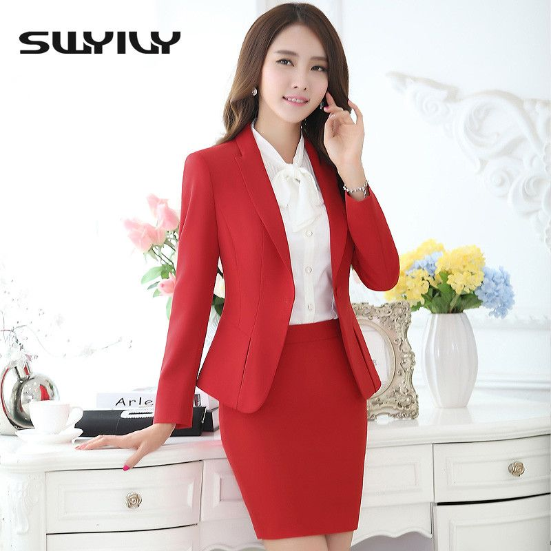 193058fda2171 Women Office Skirt Suit with bigger sizes available-4XL 5XL,Slim OL ...