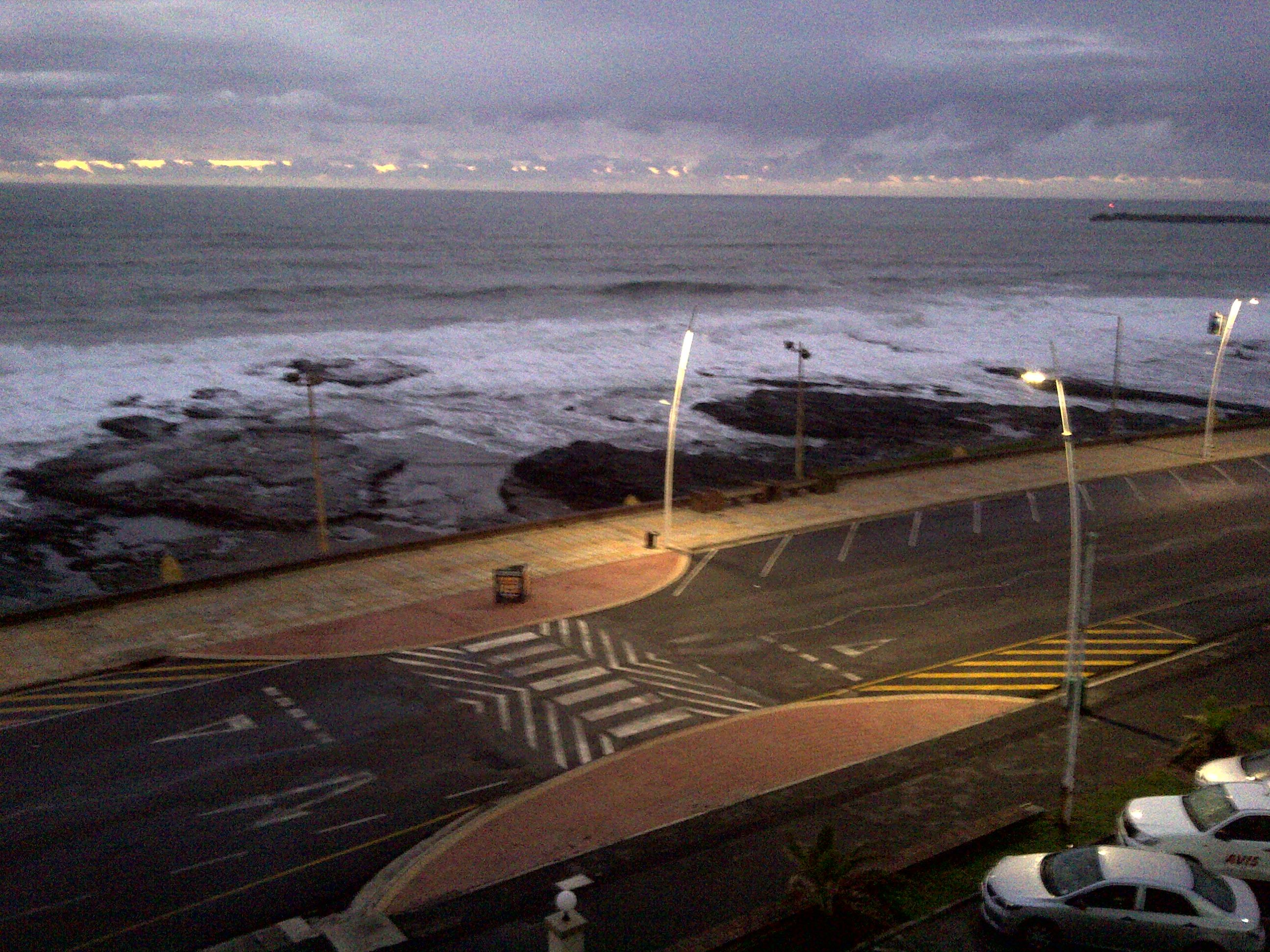 The beach front at around 5:30 am. East London, South Africa