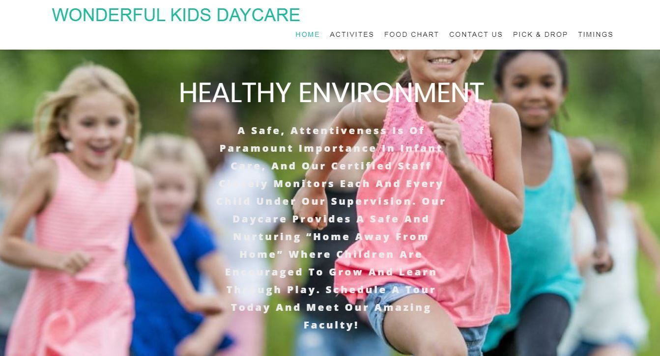 Daycare Services near me in 2020 Kids daycare, After