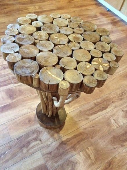 Tree Branch Side Table Wood Branch Decor Natural Wood Crafts Wood Log Crafts