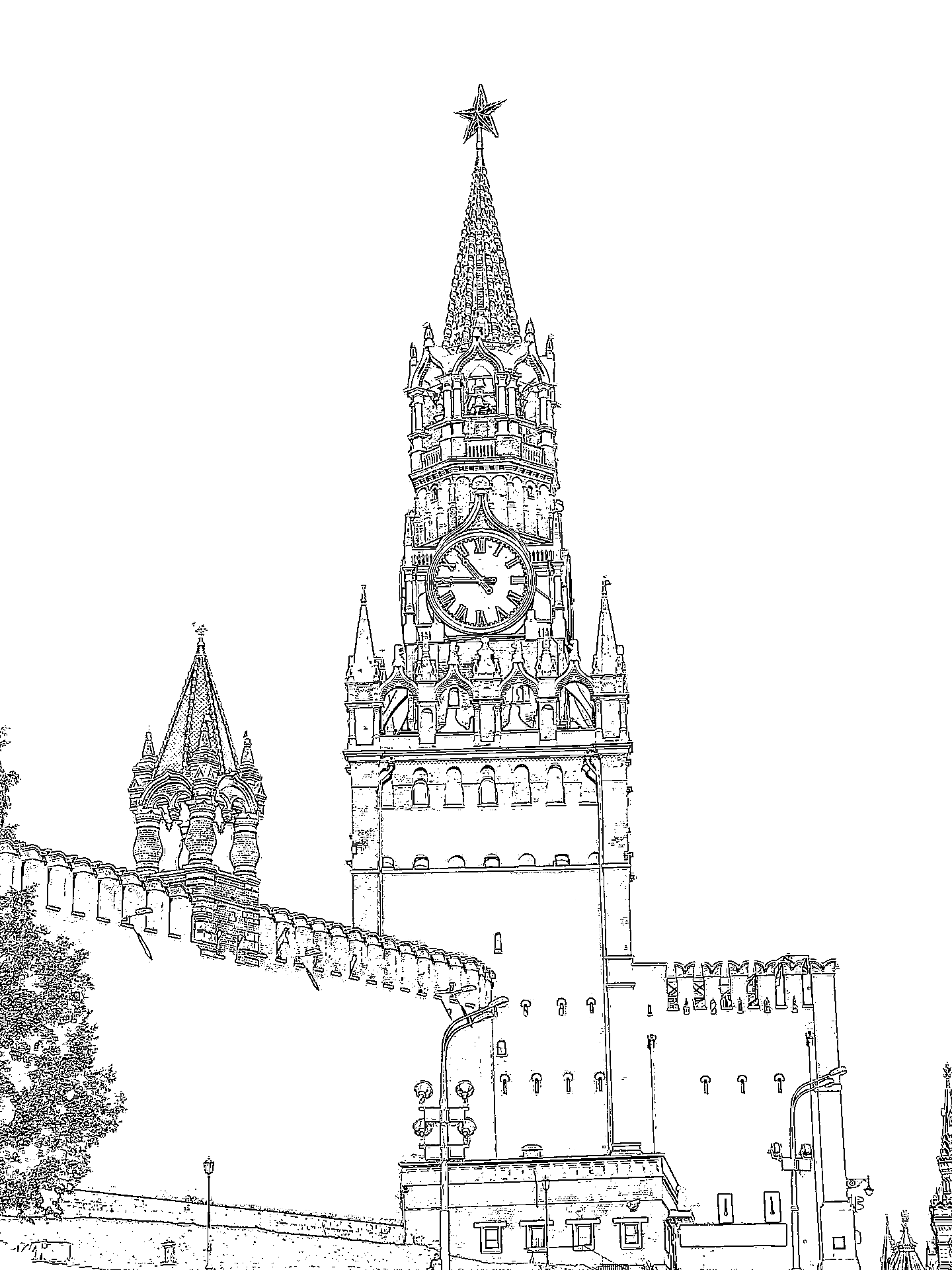 Картинки московский кремль рисунки