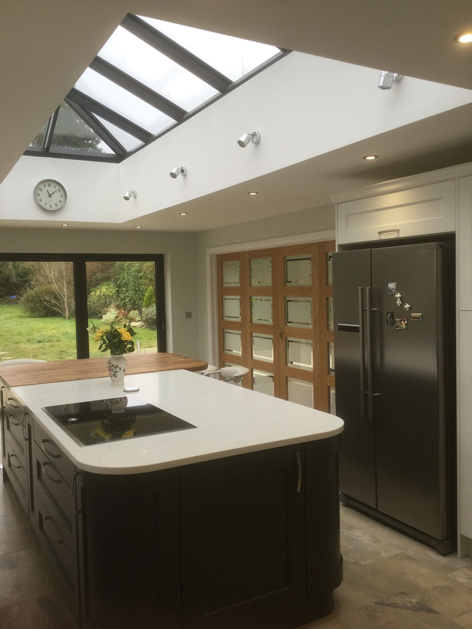 kitchen island lanterns electrical outlets roof lantern over our house on a hill