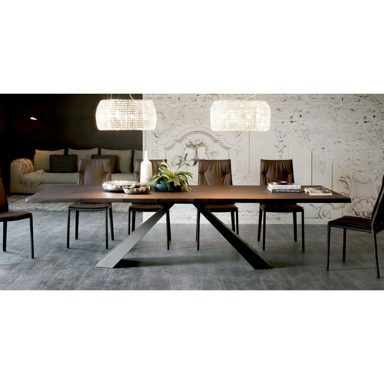 Cattelan italia mesa de comedor eliot wood eliot wood for Decorar mesas de salon modernas