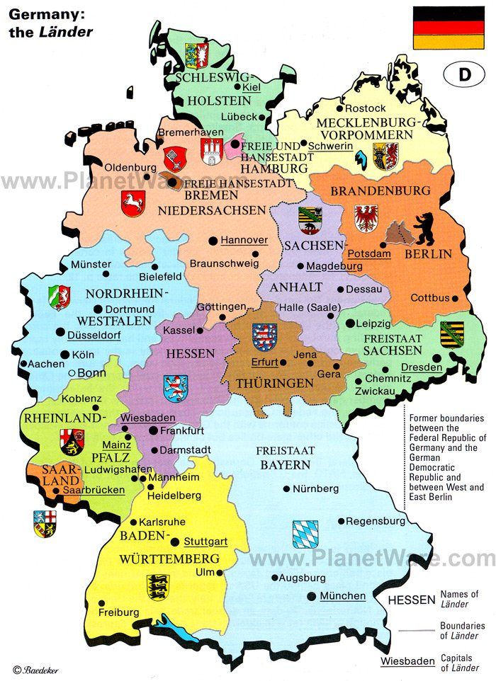 Map of Germany: the Lander   PlanetWare