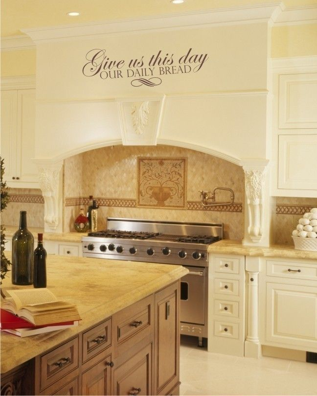 Kitchen Artwork Ideas: Wall Decals Daily Bread Scripture