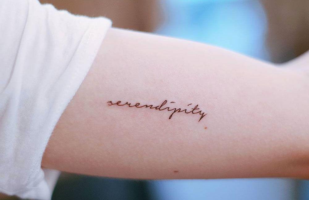 Tatuagem Do Bts: Frase Serendipity Tatuaje T Tatoo Tattoo And Tattos