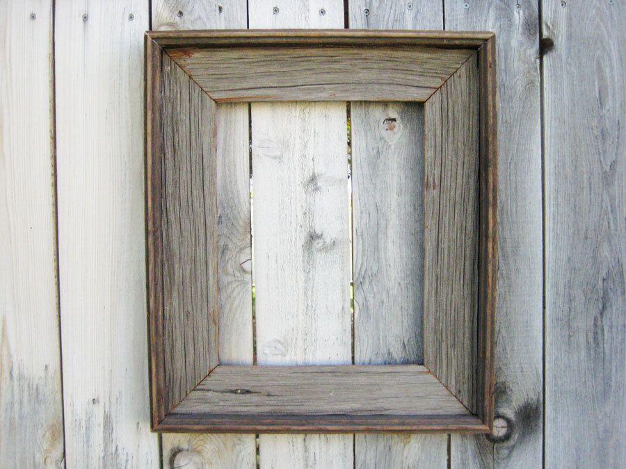 Rustic Reclaimed Wood Frame. Empty Wood Frame. Rustic Wood Decor ...