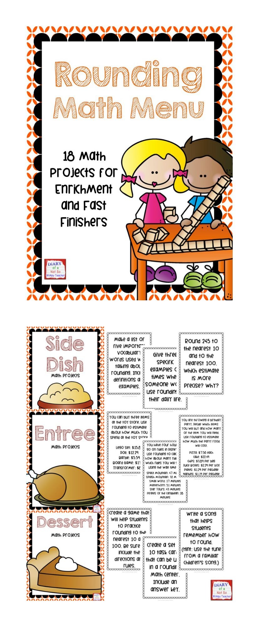 worksheet Rounding Games For 3rd Grade rounding math menu choice board with 18 projects boards projects