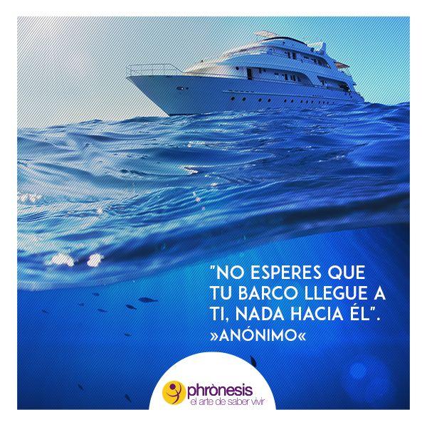 """#Frasesdemotivación """"No esperes que tu barco llegue a ti, nada hacia él"""". »Anónimo«  Dinos ¿Qué objetivo tienes en mente para tu vida?"""