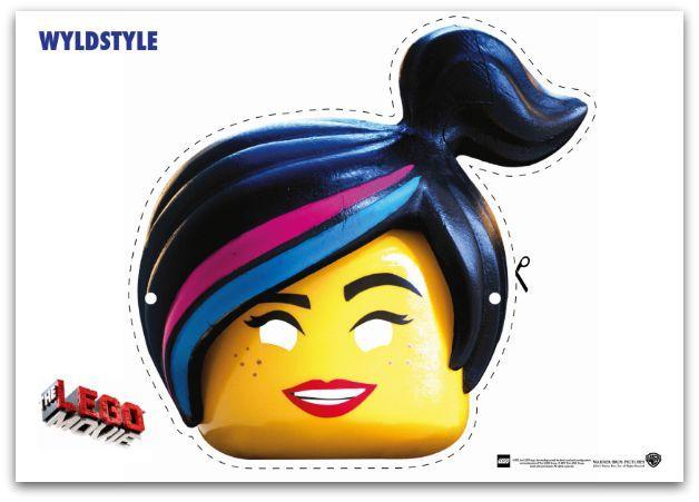 9 Free Lego Movie Printable Masks Lego girl Lego movie