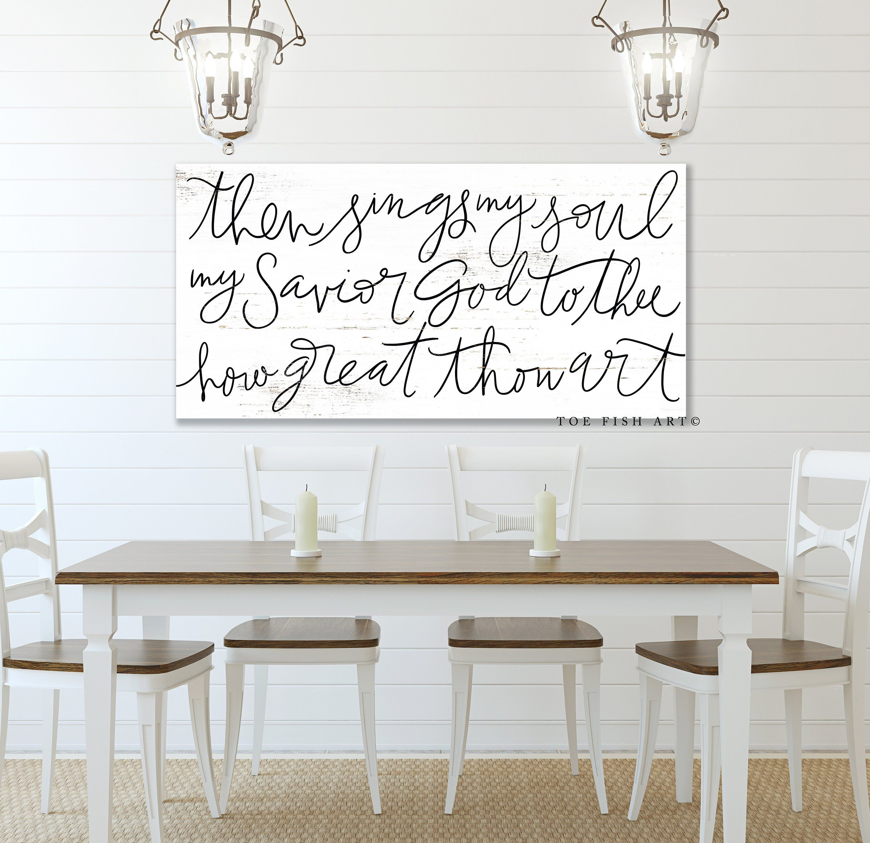 Then Sings My Soul Sign How Great Thou Art Fixer Upper Style Decor