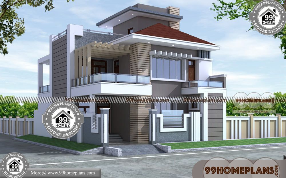 Houses And Their Plans With Design Of Two Storey Residential House Having 2 Floor 4 Total Bedroom 4 Total Bathroo Free House Plans My House Plans House Plans
