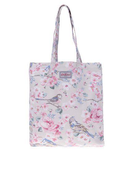 afeae71bc8 Béžová dámská květovaná plátěná taška Cath Kidston