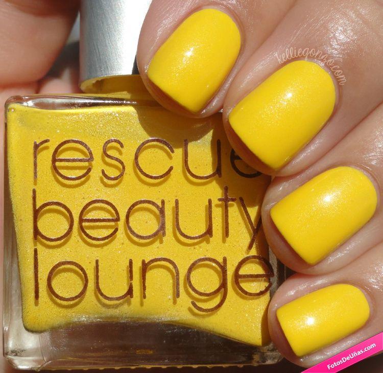 Uñas simples con esmalte de color amarillo – Fotos De Uñas decoradas ...