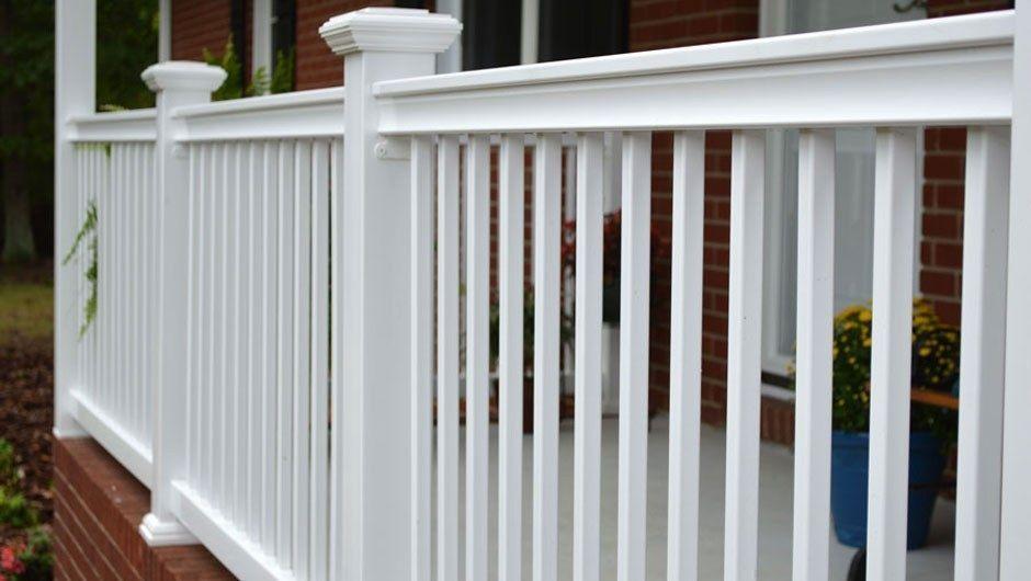 Fiberon Deck Railing Installation In 2020 Deck Railings Outdoor Composite Decking Vinyl Deck Railing