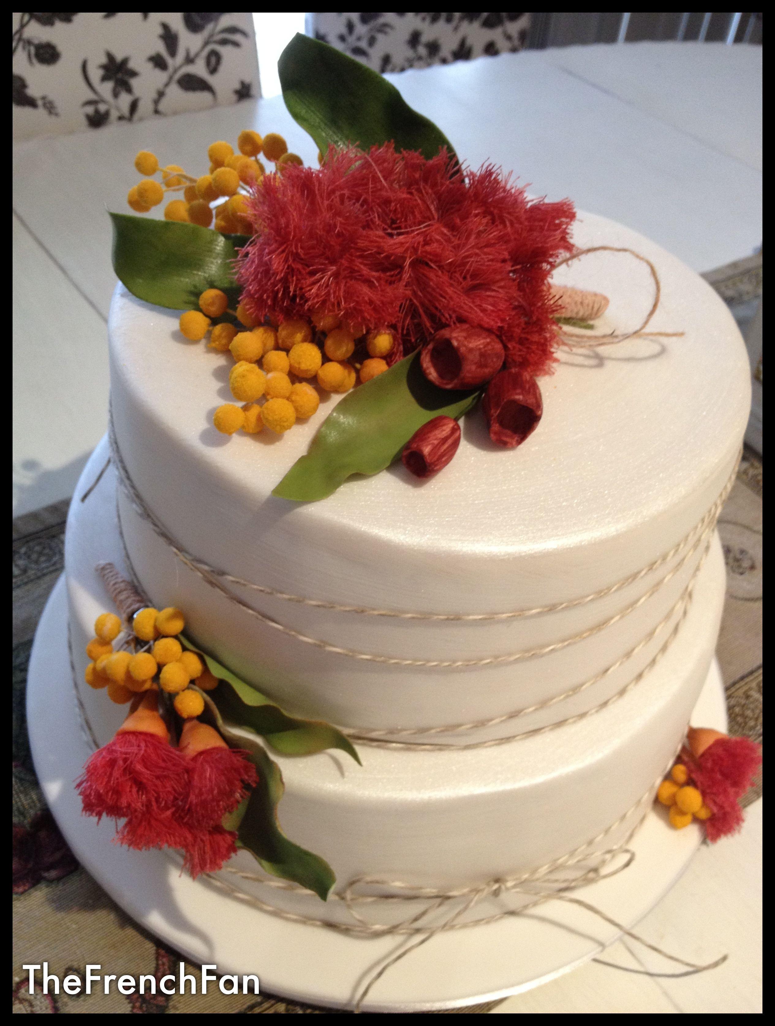 Australian Wildflowers wedding cake Wedding cake rustic