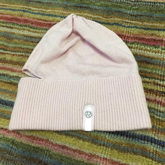 e15d706bec9 Lululemon Vite Vite Run Toque light pink hat wool Light pink merino wool.  Worn a couple of times. Opening in back for ponytail. Soft pink color.  lululemon ...