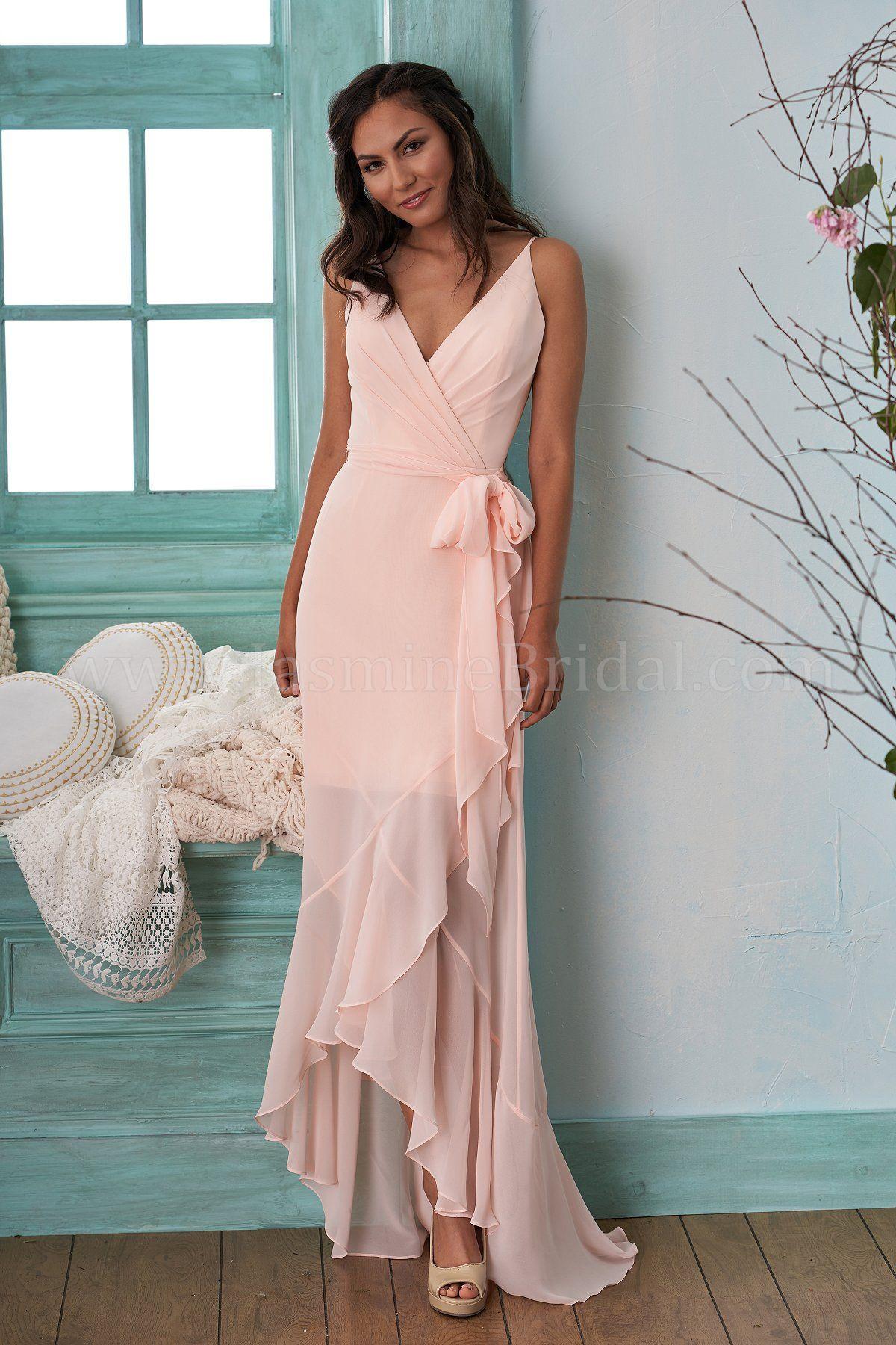 Jasmine Bridal - B2 Spring 2018 | High-low bridesmaid dress | V ...