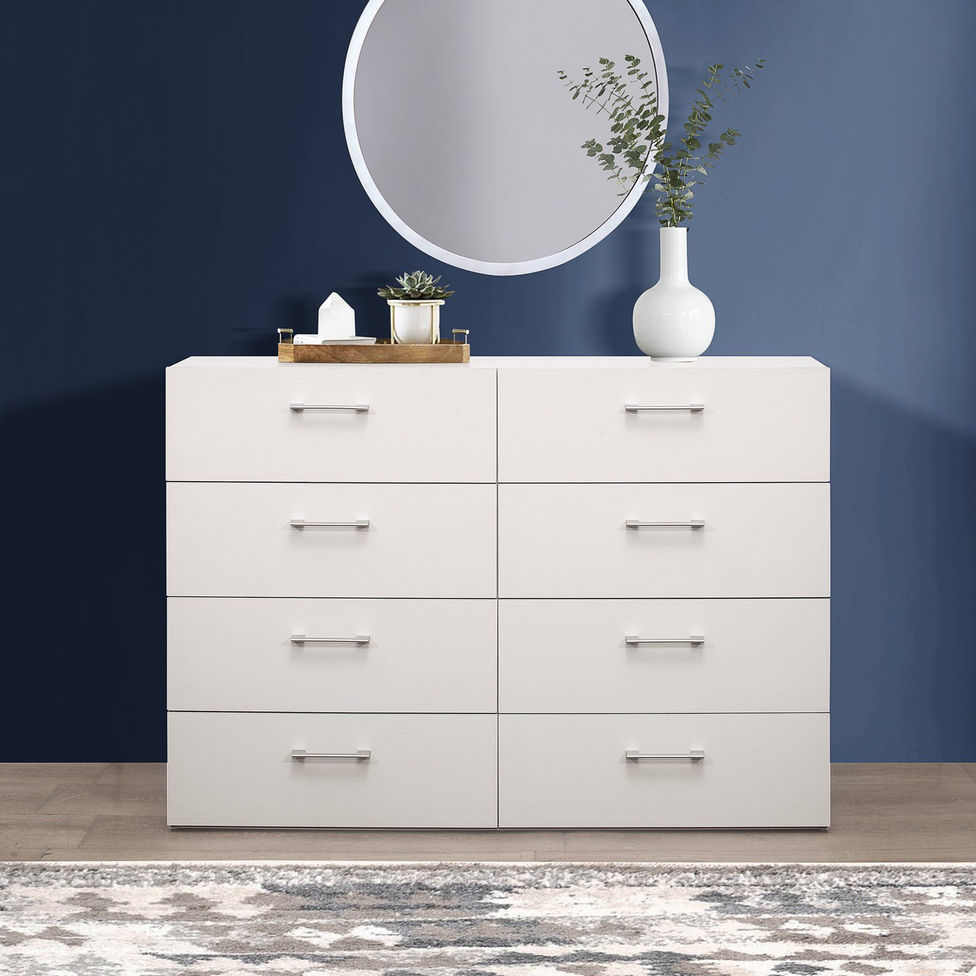 lundy 8 drawer dresser white by