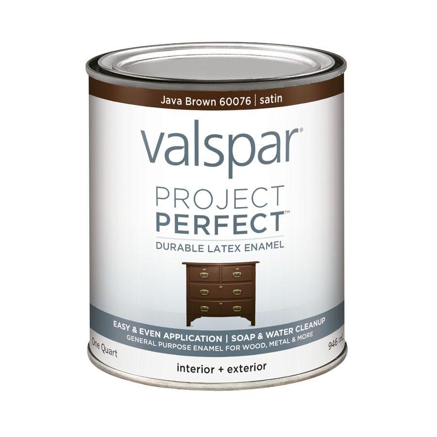 Valspar Project Perfect Java Brown Satin Latex Enamel
