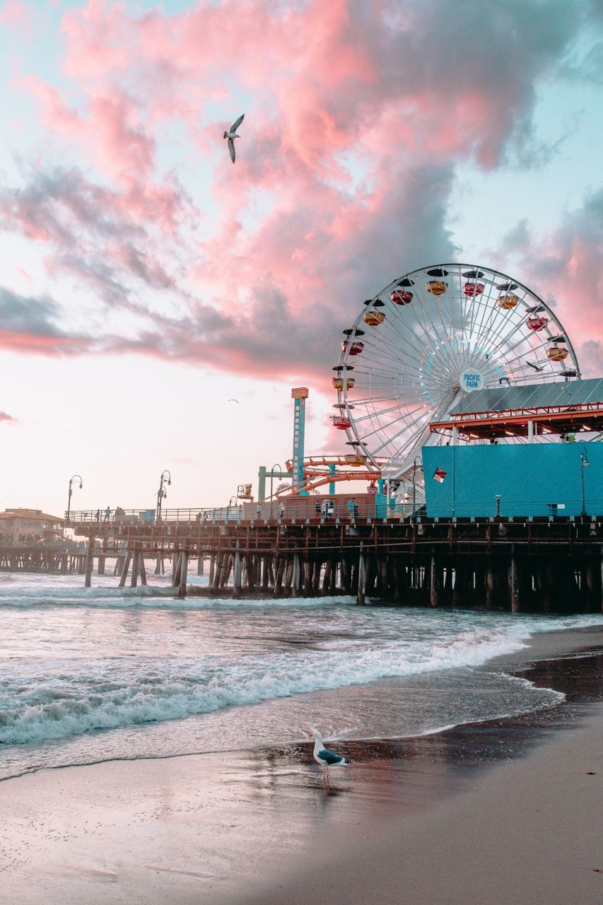Santa Monica Pier Pastel Lovely Photographs California