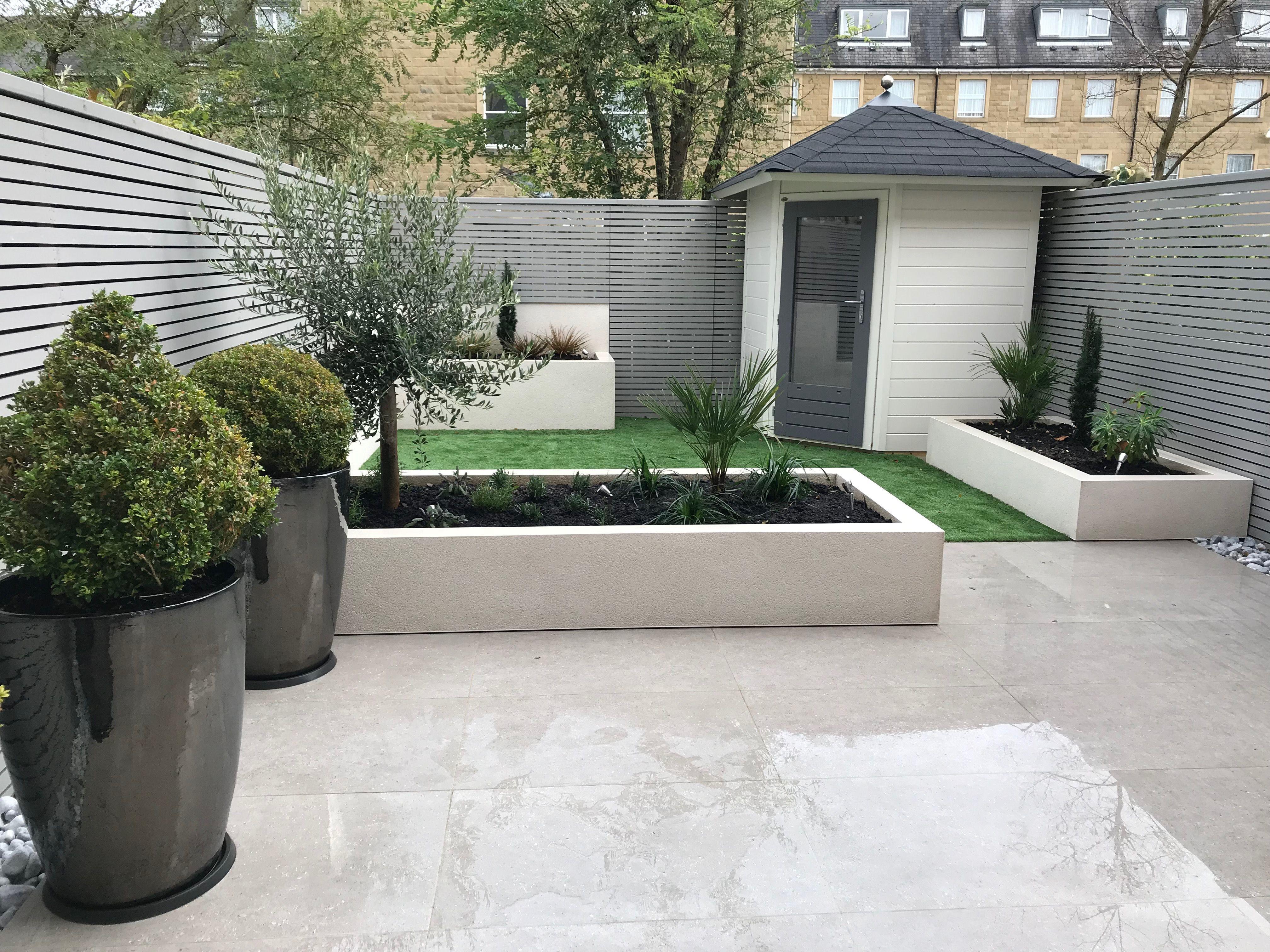 Contemporary Back Garden With Images Outdoor Gardens Design