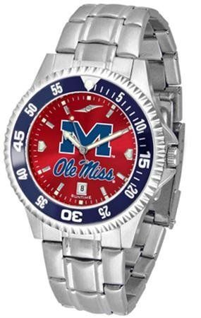 Mississippi Ole Miss Rebels NCAA Mens Competitor Anochrome Watch SunTime. $86.95. Links Make Watch Adjustable. AnoChrome Dial Enhances Team Logo And Overall Look. Officially Licensed Mississippi Rebels Men's Stainless Steel Dress Watch. Men. Stainless Steel. Save 21% Off!