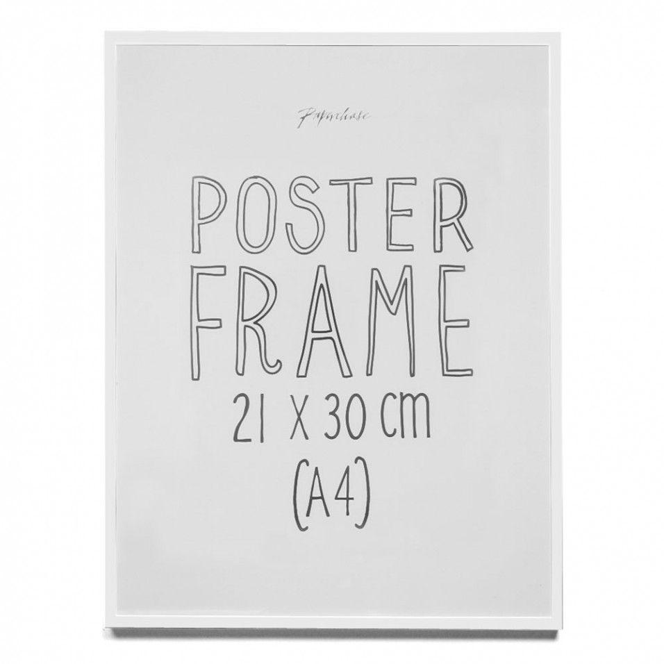 aluminium white poster frame a4 - White Poster Frame