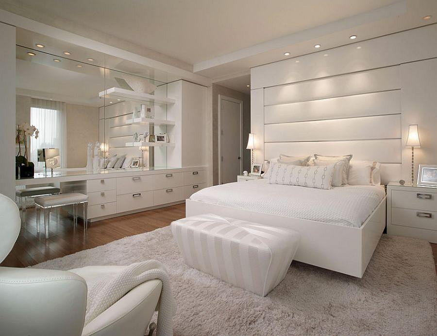 Posh all-white bedroom design idea | Pinterest | White bedroom ...
