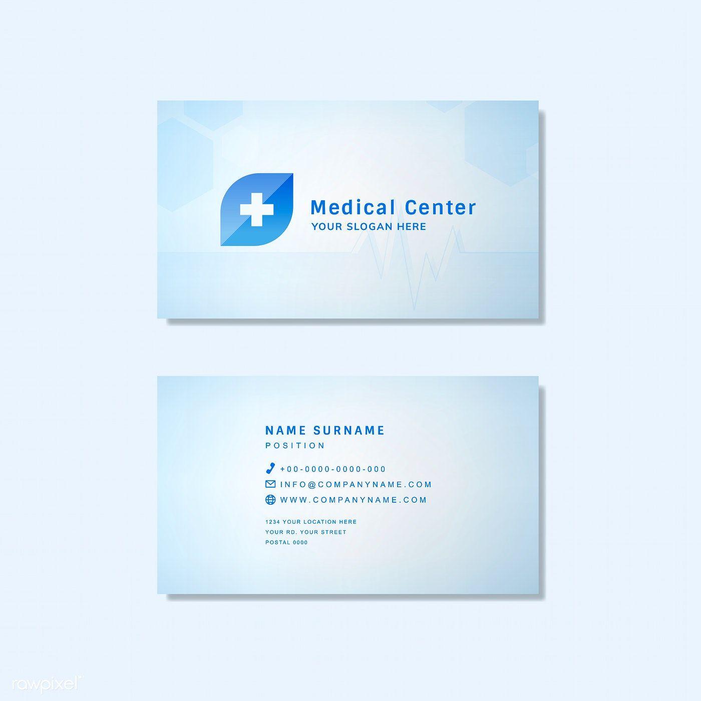 Medical Professional Business Card Design Mockup Free Image By Rawpixel Medical Business Card Medical Business Card Design Professional Business Card Design