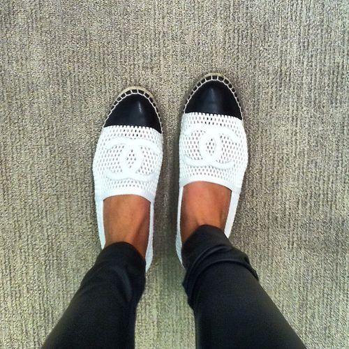 7cb3007868e5 Black and White Chanel Espadrilles