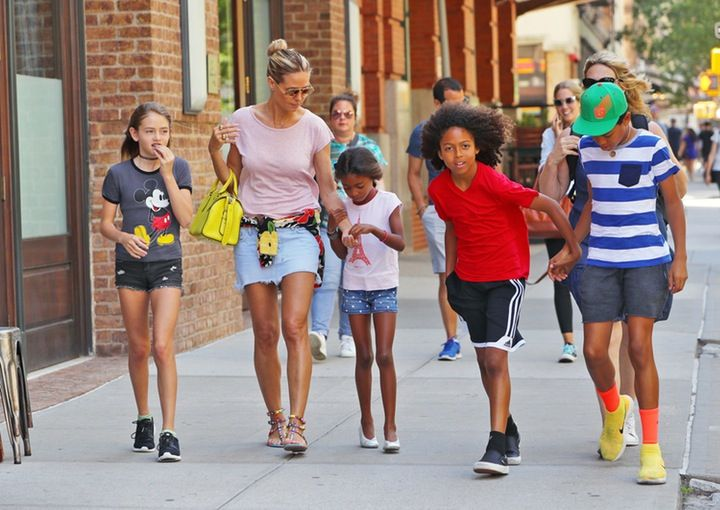 Heidi Klum Steps Out With Her And Seals Four Kids See How Grown