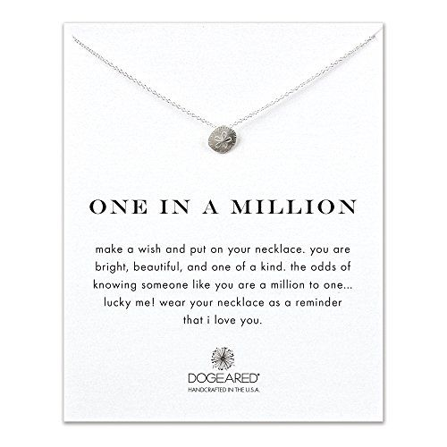 Dogeared One in a Million Sand Dollar Necklace, Sterling Silver ** CHECK OUT @ http://www.finejewelry4u.com/store/dogeared-one-in-a-million-sand-dollar-necklace-sterling-silver/?a=4978