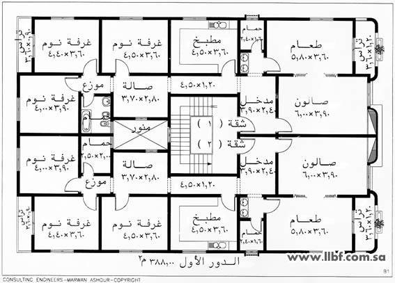 مخطط شقتين Architectural Floor Plans Home Design Plans House Floor Plans