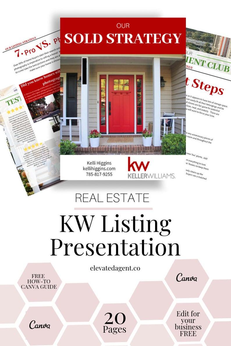 Auflistung Präsentationspaket Keller Williams – KW Immobilienführer, Templat …