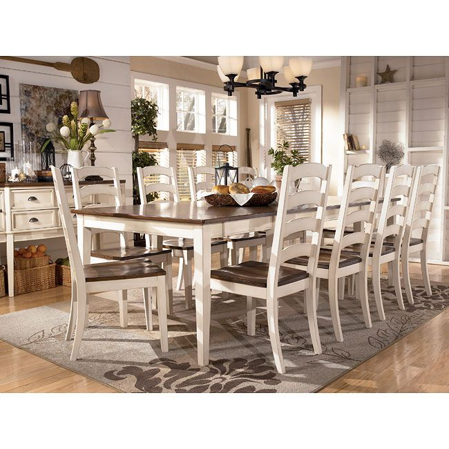 Whitesburg Collection By Ashley Furniture Cottage Style Charm In Your Dining Room Rectangular Dining Room Table Formal Dining Room Sets White Dining Room Furniture