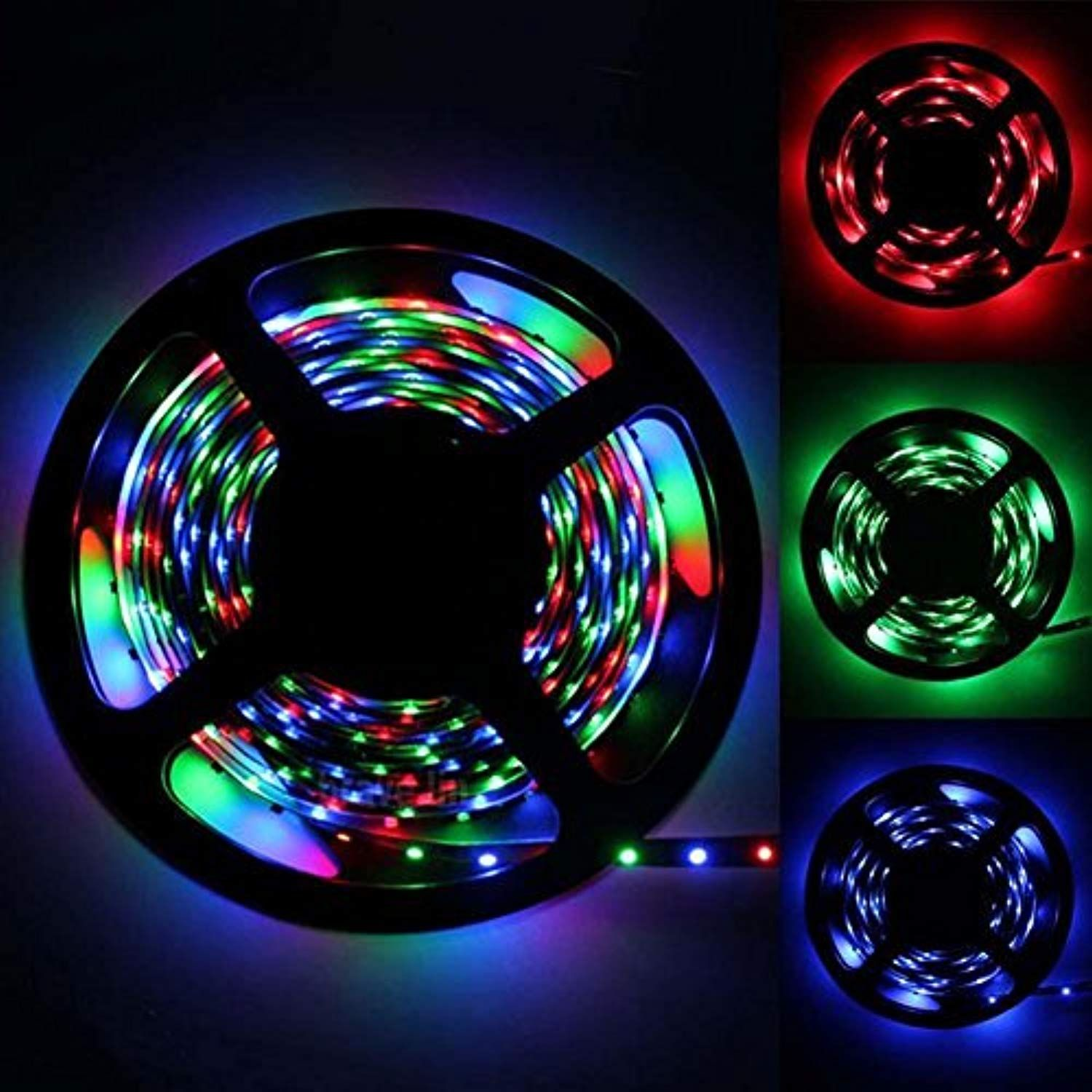 5m 16 4ft Led Flexible Light Strip Rgb 300 Leds Smd 5050 Led Strip Lights Non Waterpoof Light Stri Flexible Led Strip Lights Strip Lighting Led Light Strips