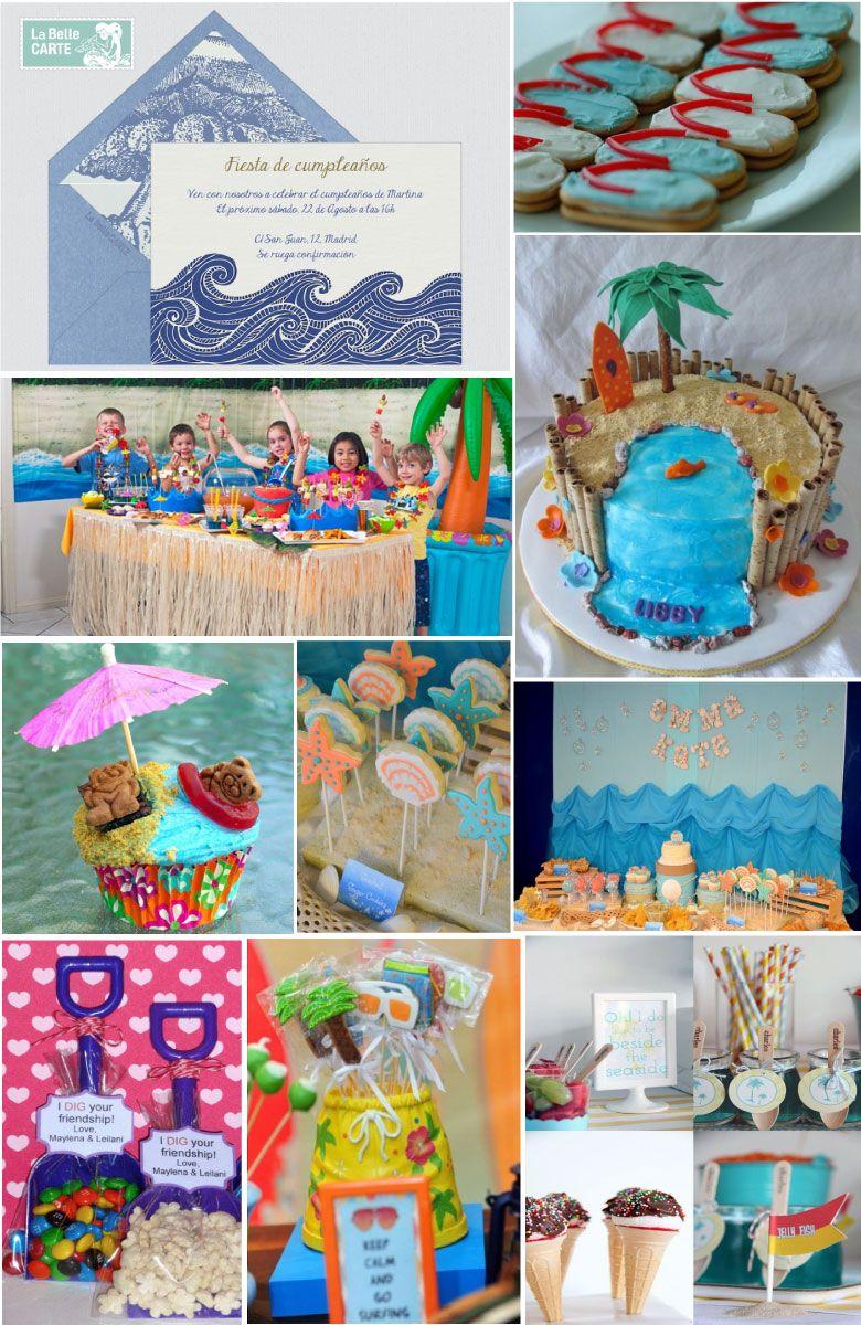 infantiles e ideas para celebrar un cumpleaos de nios inspirado en la playa