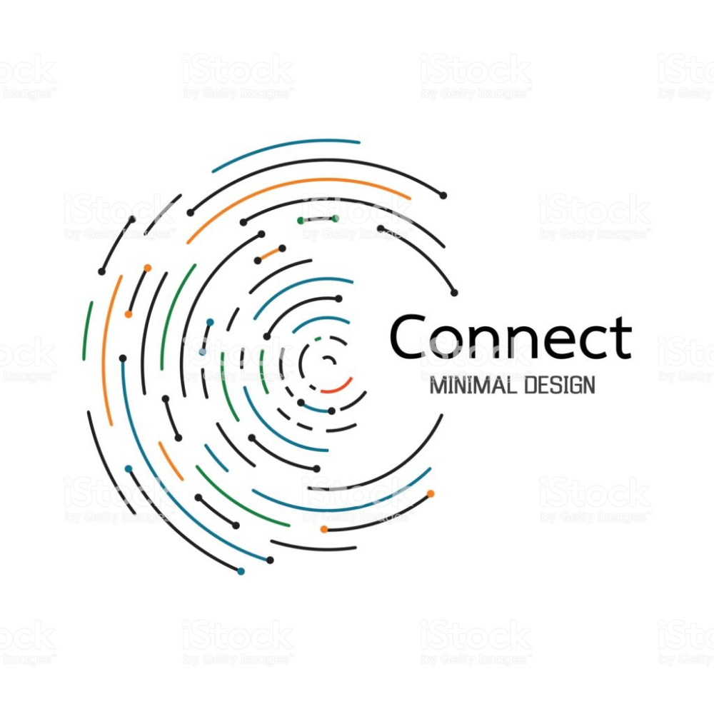 Abstract network connection. icon logo design. Vector