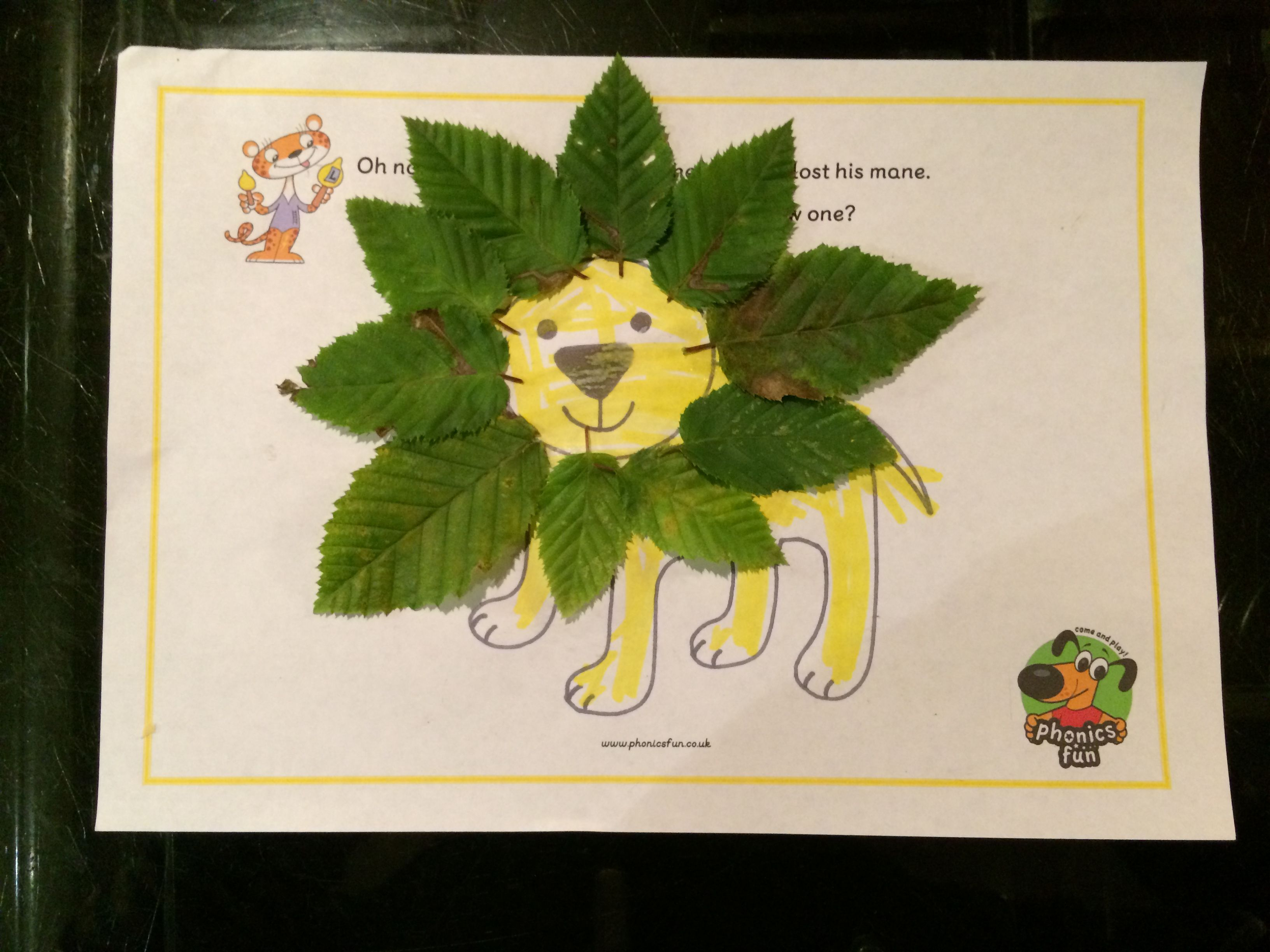 Lion With A Leaf Mane For The Letter L Today