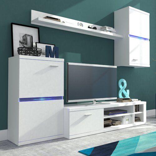 Photo of Wohnwand Intel für TVs bis zu 50″ Hazelwood Home Farbe: Mattweiß, LED-Beleuchtung: Nicht im Lieferumfang enthalten