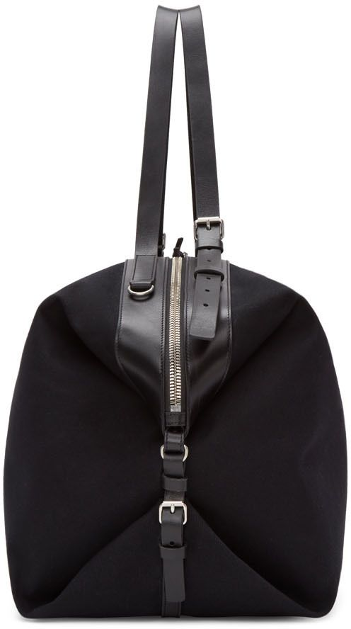 1d7fd84eb3 Saint Laurent: Black Canvas Large ID Convertible Bag | SSENSE | Stíl ...