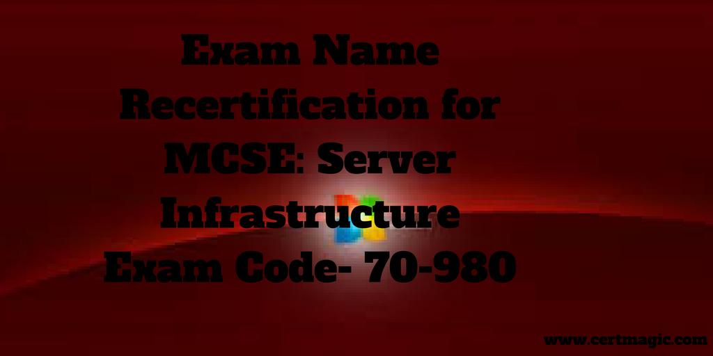 Exam Name Recertification for MCSE Data Platform