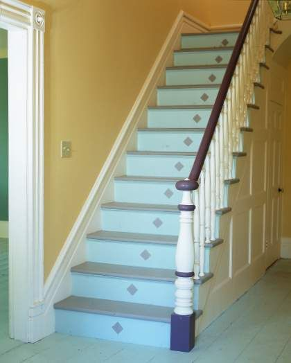 Aqua Painted Staircase