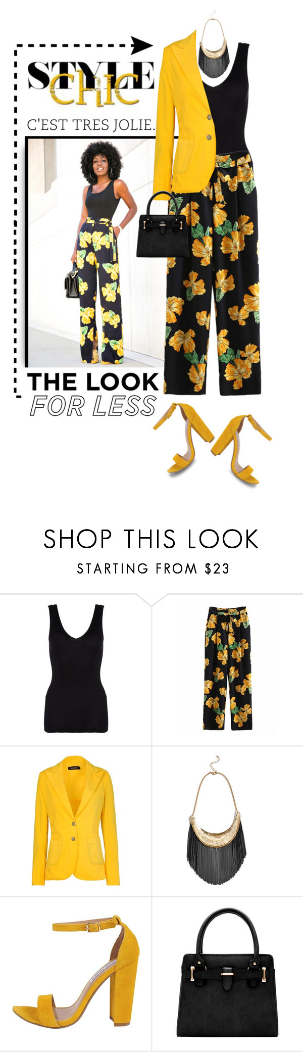 """""""Looking So Lovely"""" by shortyluv718 ❤ liked on Polyvore featuring Hanro, Basicon, GUESS by Marciano, Steve Madden, floralpants and floralprint"""