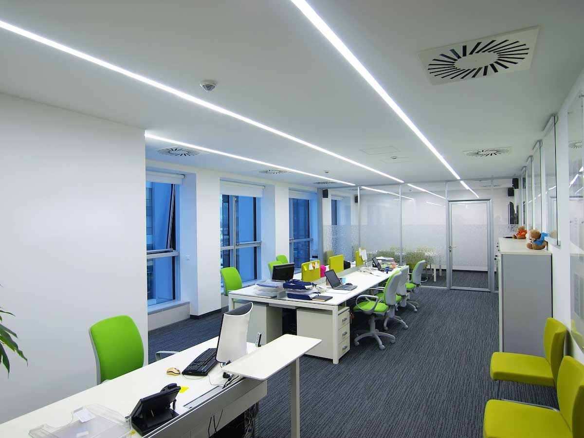Modern Linear Office Led Lighting Example In 2019 Ceiling