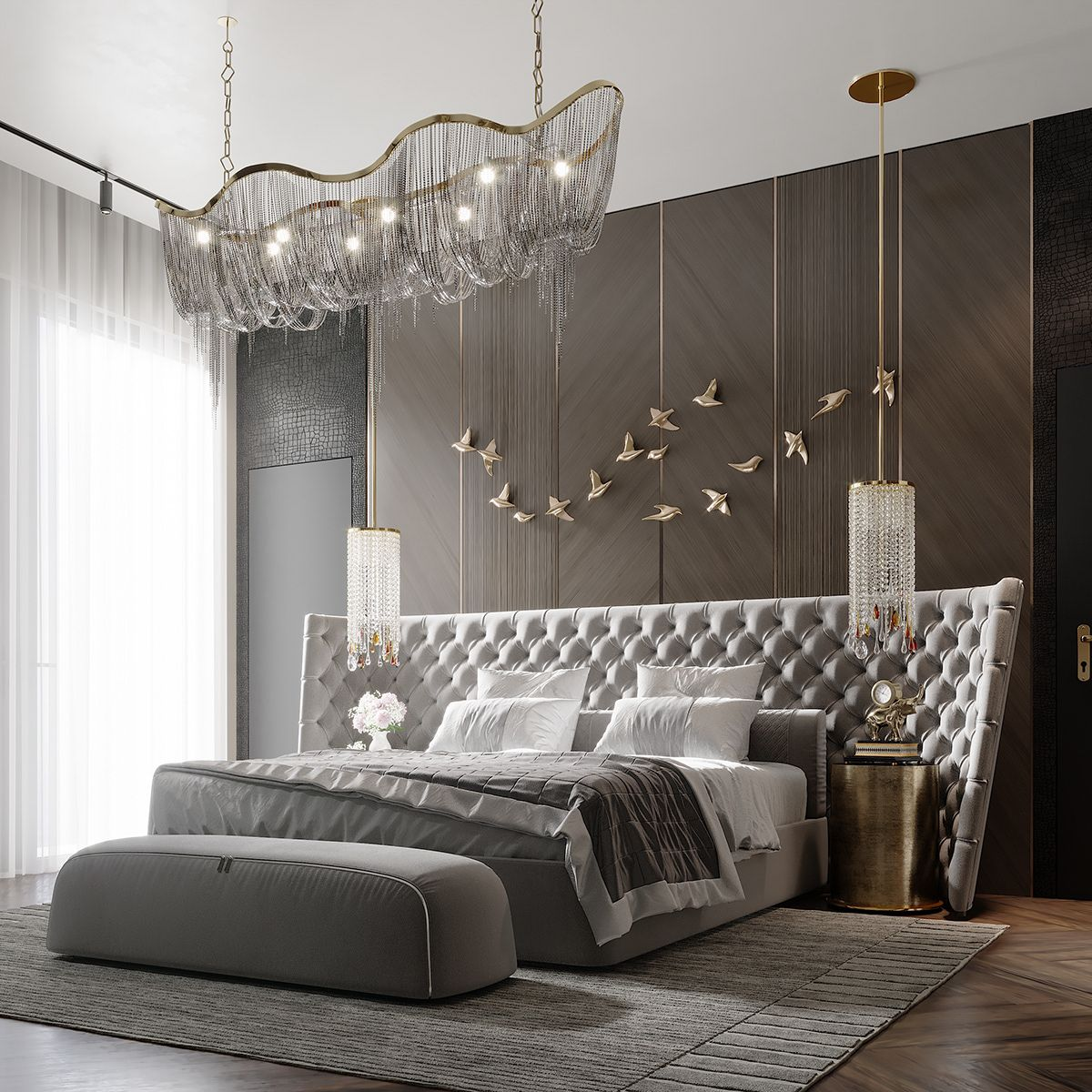 Bedroom In Contemporary Style On Behance: CONTEMPORARY BEDROOM On Behance In 2020